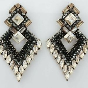 Brown Black Gold Multi Color Earrings Drop